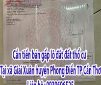 Cần tiền bán gấp lô đất đất thổ cư  tại xã Giai Xuân - huyện Phong Điền ,TP Cần Thơ