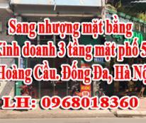 Sang nhượng mặt bằng kinh doanh 30m2x 3 tầng tại mặt phố 59 Hoàng Cầu. Đống Đa, Hà Nội.
