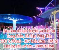 Khu du lịch thuyền và biển tại Long Điền, Bà Rịa Vũng Tàu -Lh 0909.280.396
