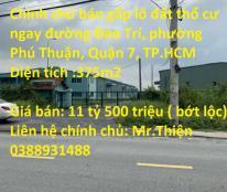 Chính chủ bán gấp lô đất thổ cư ngay đường Đào Trí, phường Phú Thuận, Quận 7, TP.HCM
