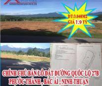 Chính chủ bán lô đất Đường Quốc Lộ 27B  Phước Thành, Bắc Ái, Ninh Thuận
