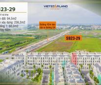 Bán shopTMDV Sao Biển 23-29, 94.5m2, hướng Tây Nam, mặt tiền 7m, gần đường 52m, gần công viên 8,X tỷ