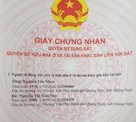 Bán Đất hẻm 101 Đường Phạm Văn Đồng Tp. Quảng Ngãi