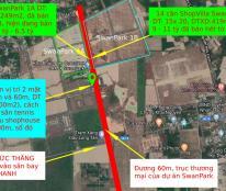 Đất SwanPark 300m2 (sổ đỏ), 2 mặt tiền trên đường số 7A(60m) trong dự án Swanpark