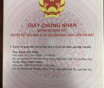 Chính chủ cần bán đất thuộc phường Vân Phú, TP Việt Trì, Phú Thọ