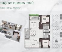 239tr sở hữu ngay căn hộ 75m2 - 2PN - 2WC