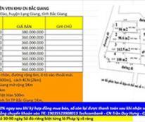 Bán lô đất quanh các KCN Bắc Giang hơn 360tr/1 lô. Lh 0352817810