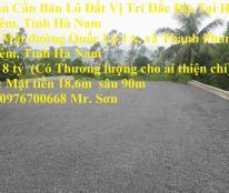 Chính Chủ Cần Bán Lô Đất Vị Trí Đắc Địa Tại Huyện Thanh Liêm, Tỉnh Hà Nam