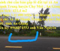 Chính chủ cần bán gấp lô đất tại xã An Thạnh Trung huyện Chợ Mới , An Giang