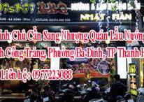Chính Chủ Cần Sang Nhượng Quán Lẩu Nướng Đinh Công Tráng, Phường Ba Đình, TP Thanh Hóa