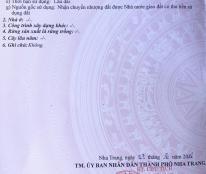 Chính chủ cần bán lô đất đẹp vị trí đắc địa tại TP Nha Trang, tỉnh Khánh Hòa