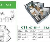Căn hộ 2PN hướng Đông Nam sẵn sổ full nội thất khu vực Long Biên giá chỉ 2 tỷ