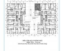Chuyển nhượng căn B2 diện tích 75,3m2 đẹp nhất nhì dự án giá lại rẻ tầng đẹp tòa Tháp Thiên Niên Kỷ
