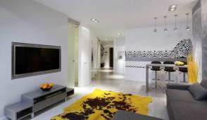 Thiết kế căn hộ 54m2 ấn tượng, sang trọng