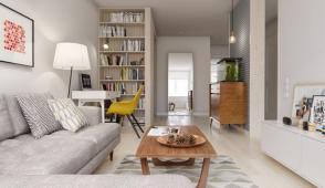 Cách thiết kế căn hộ 60m2 đẹp, tiện ích