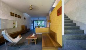 Ngôi nhà có kiến trúc pha trộn hai miền văn hóa Nam Bắc