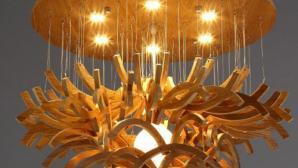Những chiếc đèn gỗ đơn giản vẫn thu hút chú ý