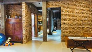 Căn nhà độc đáo xây gạch mộc ở Vĩnh Phúc