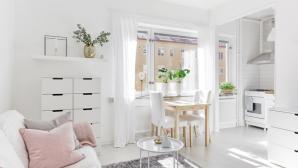 Thiết kế căn hộ 28m2 màu trắng tuyệt đẹp