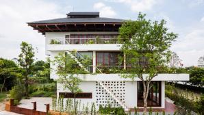 Nhà bậc thang kết hợp kiến trúc Nhật ở Vĩnh Phúc