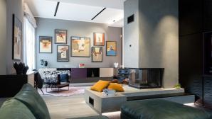 Thiết kế căn hộ kết hợp màu sắc trắng đen