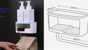 5 loại kệ lưu trữ cho phòng tắm cực chất, giá chưa đến 200 nghìn đồng