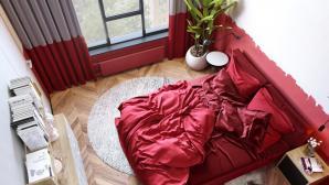 Những mẫu phòng ngủ màu đỏ hút mắt cho người năng động