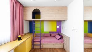 Nội thất mô-đun giúp trẻ chơi đùa thoải mái trong ngôi nhà 190m2