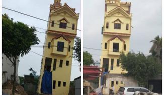 Vì sao ngôi nhà 5 tầng ở Hà Nam vừa xây xong đã nghiêng cả mét?