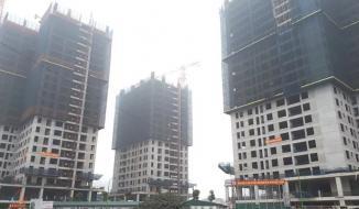 Công trường nhiều dự án bất động sản tại Hà Nội vẫn im ắng sau Tết