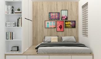 Tư vấn thiết kế phòng ngủ tí hon cho gia đình 5 người, diện tích chỉ 8,4 m2